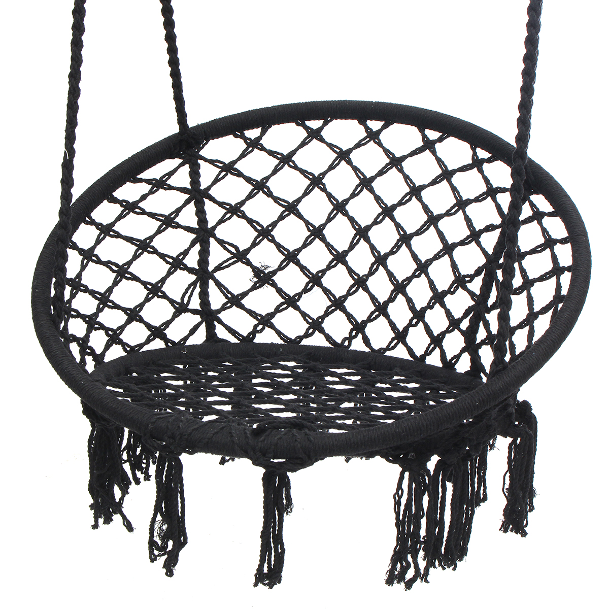 indoor hanging chairs canada faux fur saucer chair outdoor hammock woven rope seat
