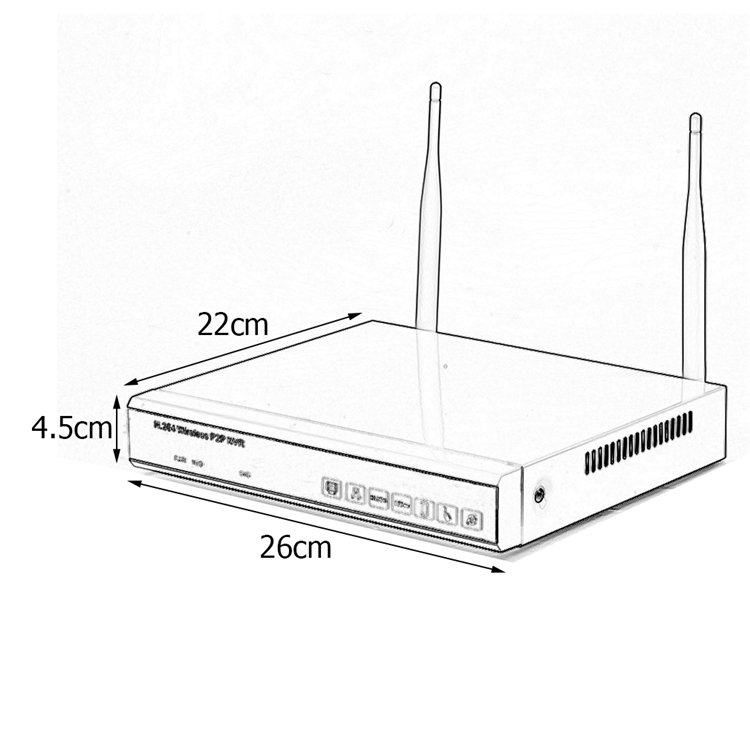 4 channel wireless nvr network video recorder with 960p
