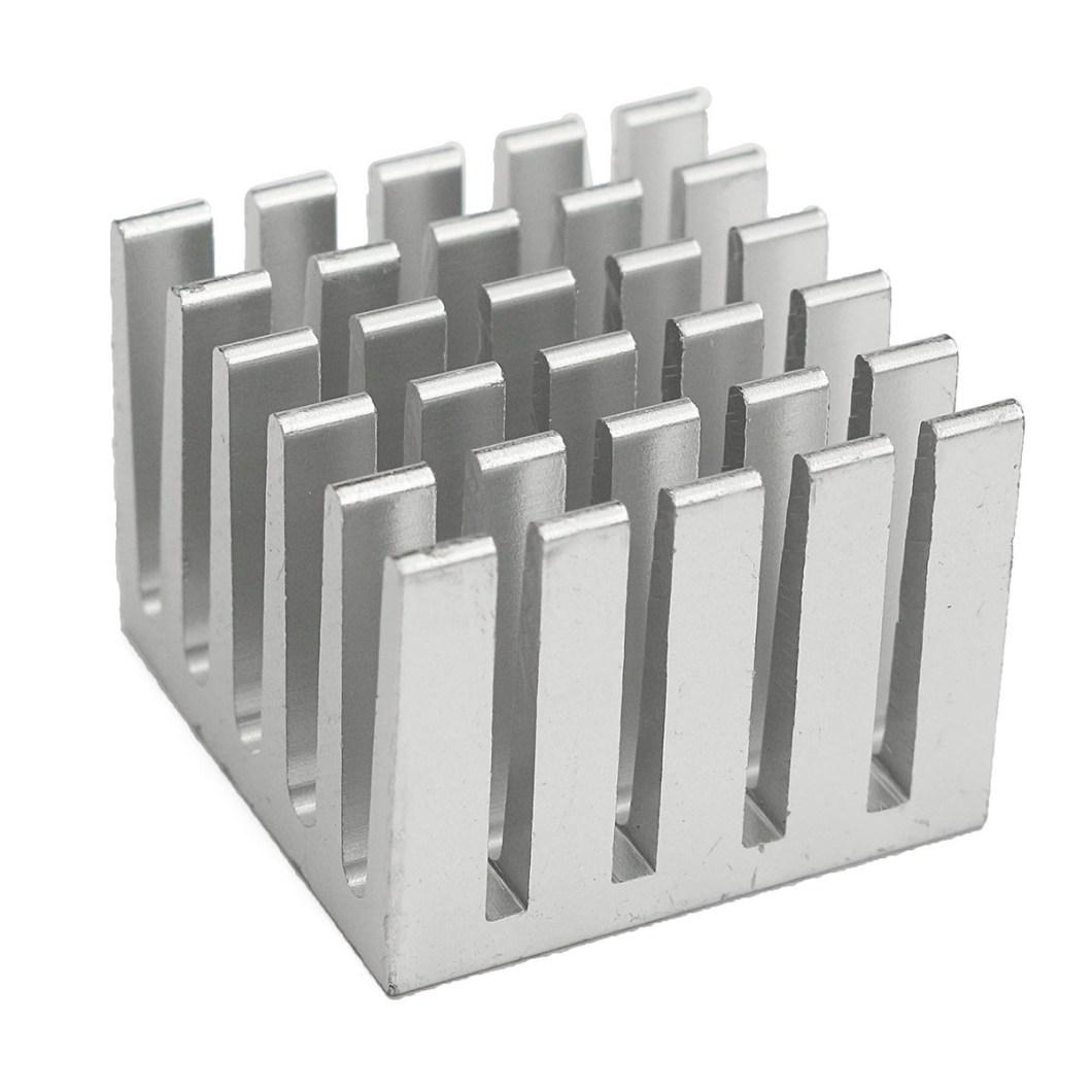 20pcs 20x20x15mm DIY CPU IC Chip Heat Sink Extruded Cooler Aluminum Heat Sink 19