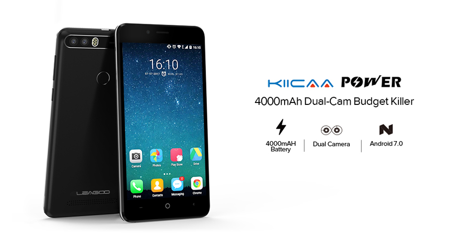 LEAGOO KIICAA Power 5.0 Inch 4000mAh 2GB RAM 16GB ROM MT6580A 1.3GHz Quad Core 3G Smartphone