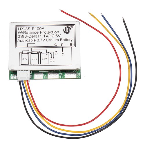 small resolution of 1 x 3s 11 1v high current 100a 3 7v lithium battery protection board with balance