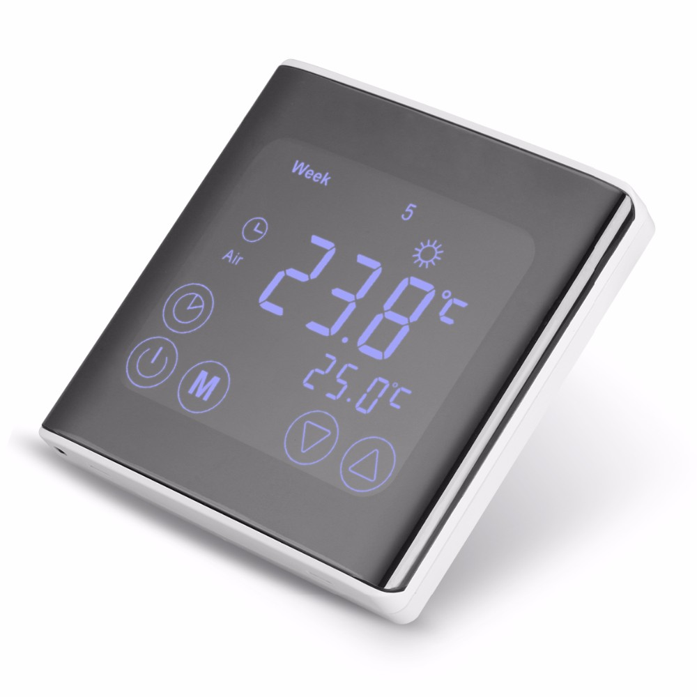 LCD Touch Screen Wall Floor Termostat 85-250V 16A Weekly Programmable Automatic Temperature Control System