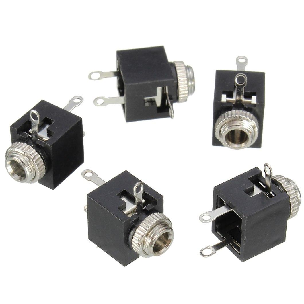 150pcs PCB Panel Mount 3.5mm Female Earphone Socket Jack Connector 19