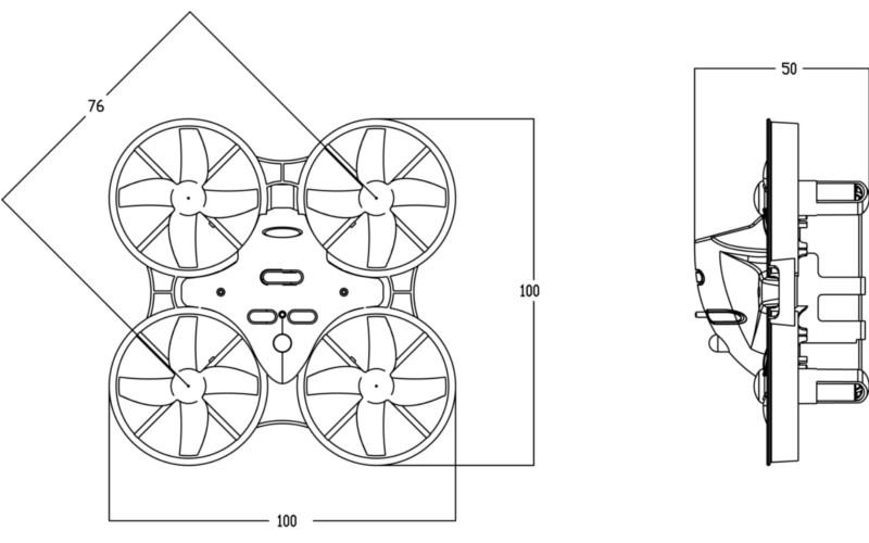 eachine m80 acro/angle mode with 8520 motor 5.8g 600tvl
