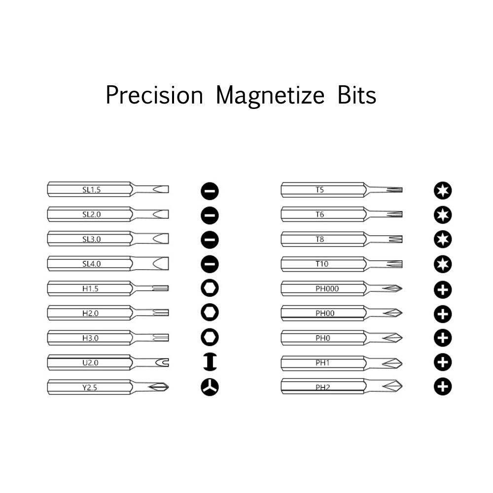 xiaodong x2 19 in 1 mini intelligent electric screwdriver