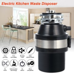 Kitchen Waste Disposal Wall Shelf 370w 220v Disposer Food Garbage Sink With Power Cord Us Plug