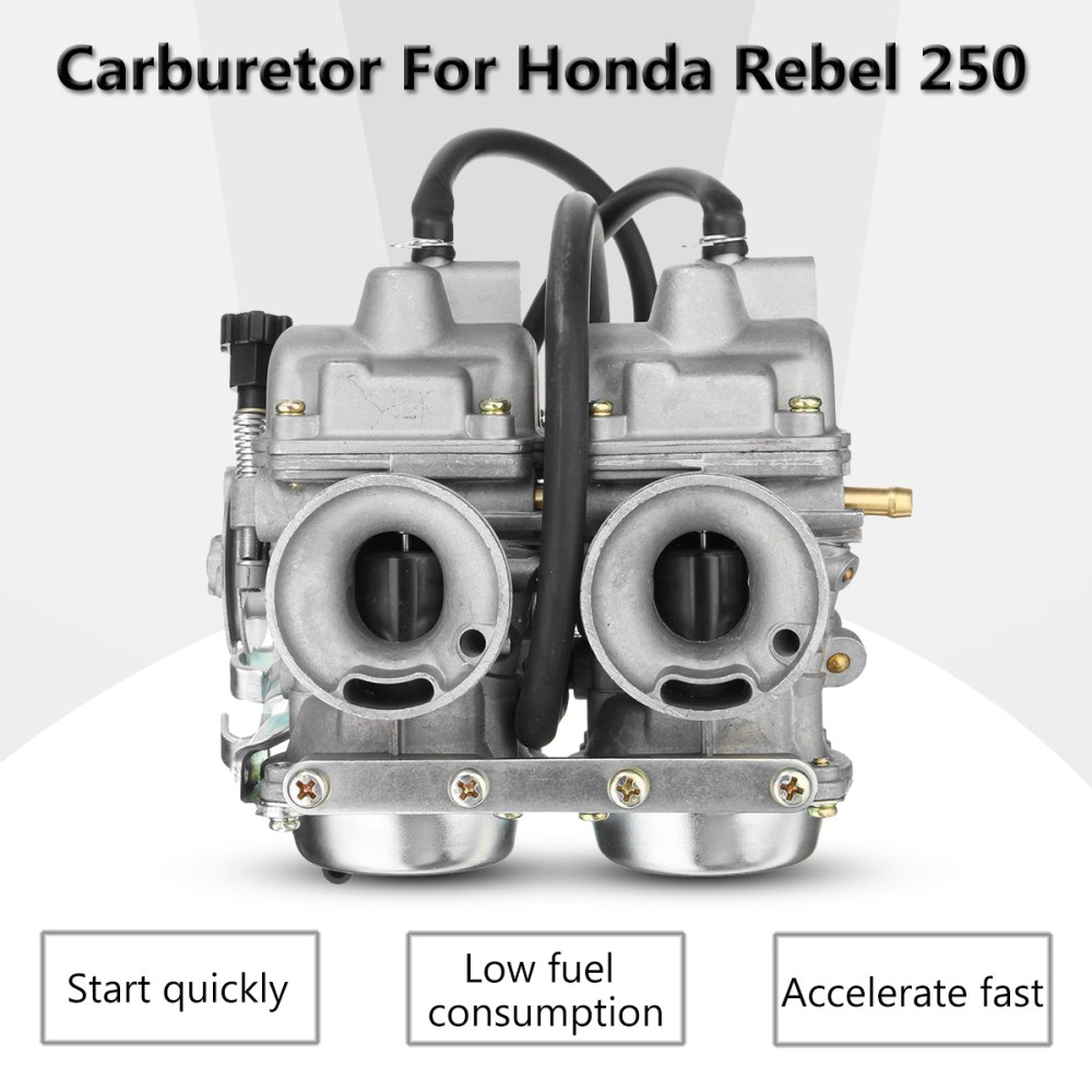 medium resolution of carburetor dual carb assy fuel filter for honda rebel ca cmx 250 c cmx250 ca250