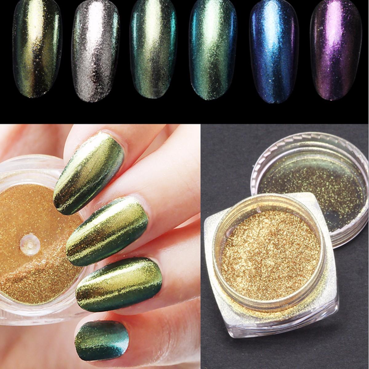 6 Colors X Nail Art Powder | GopaShop.com