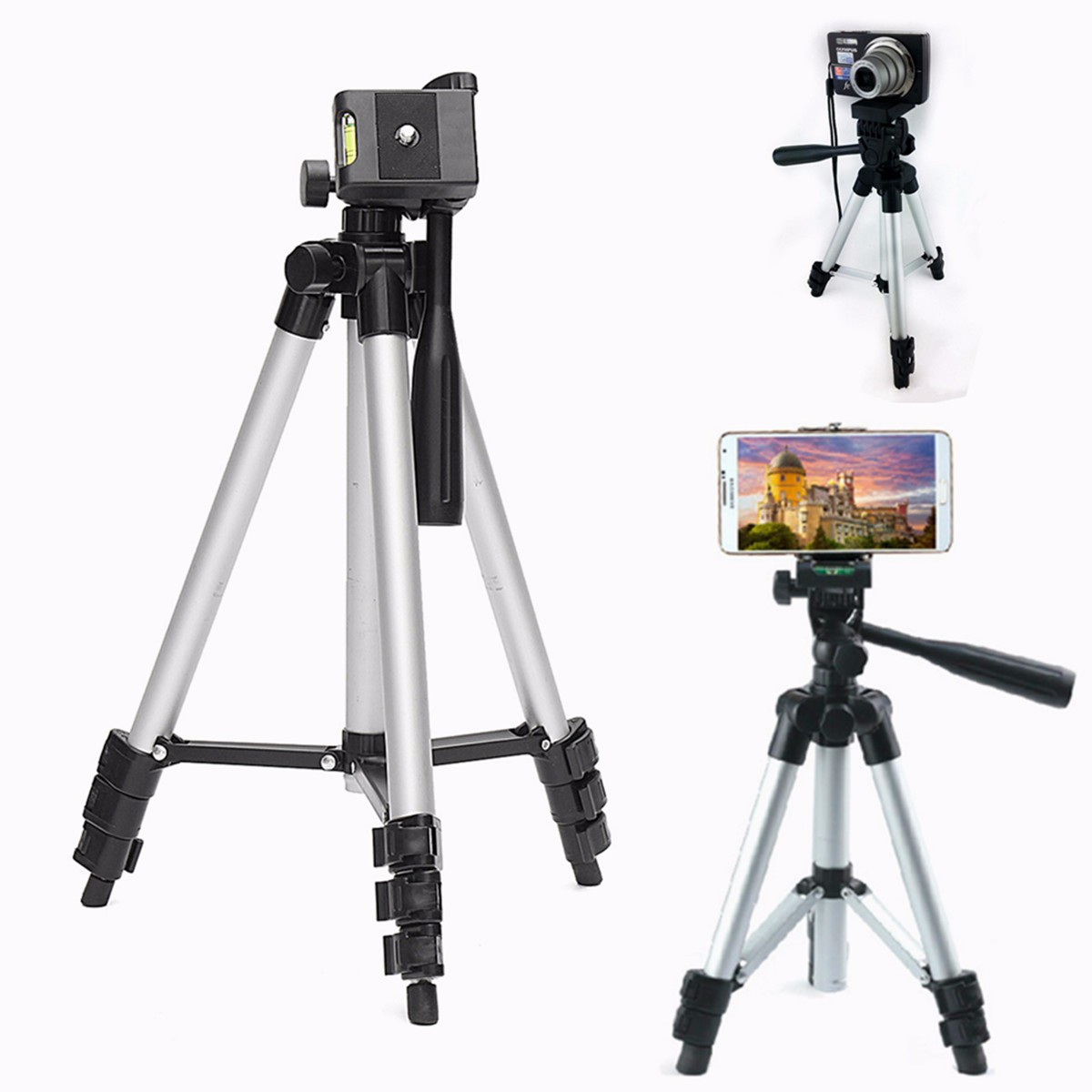 50 Inch Tripod And Smartphone Mount For Samsung Iphone