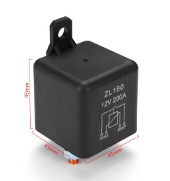 12v 200a heavy duty split charge starter relay car truck boat van with teminal [ 1200 x 1200 Pixel ]