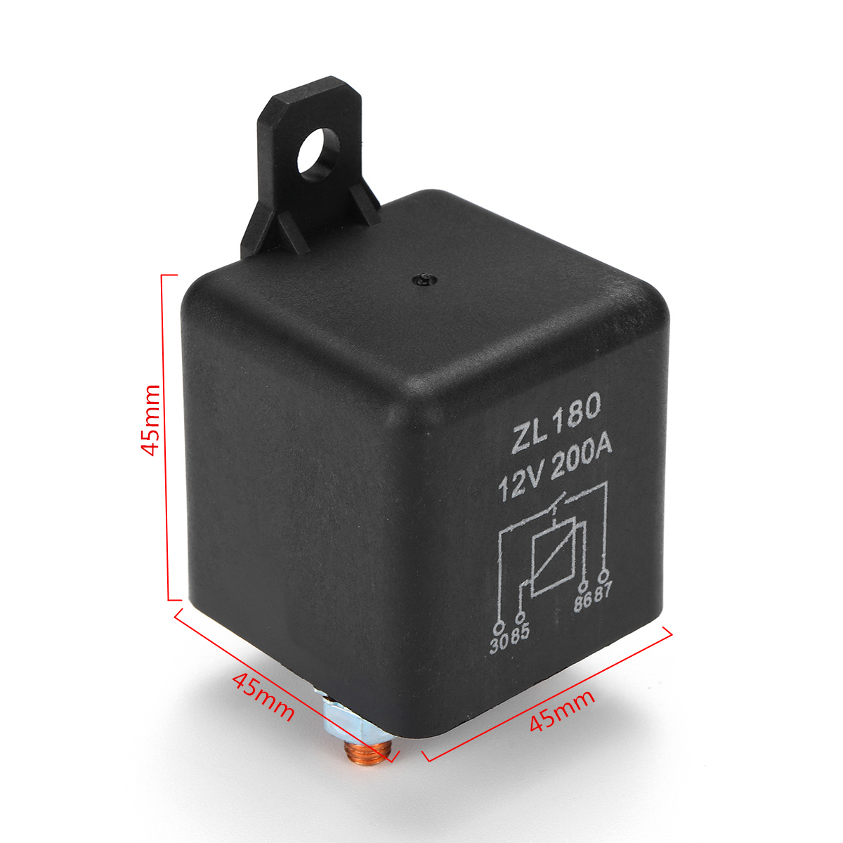 hight resolution of 12v 200a heavy duty split charge starter relay car truck boat van with teminal