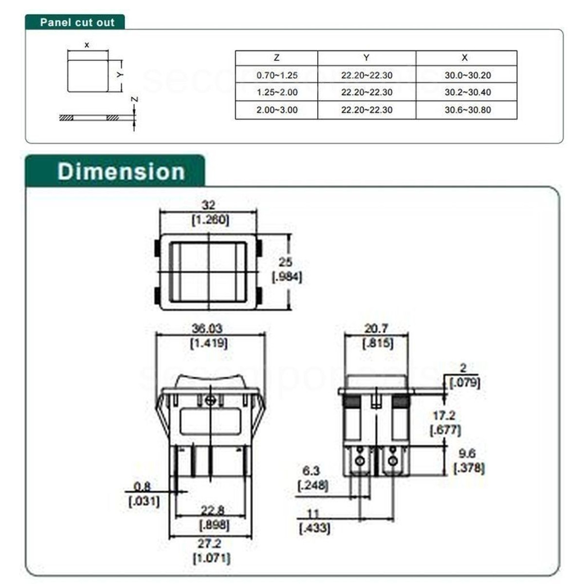 hight resolution of forward reverse switch 3 positions 6 pin switch