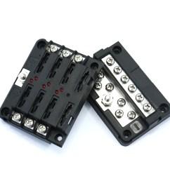 6 way led blade fuse box negative bus bar w cover marine boat car hgv 12v 24v [ 2000 x 2000 Pixel ]