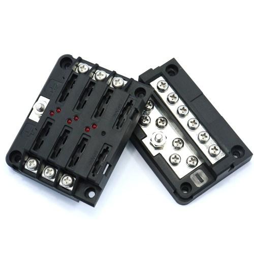 small resolution of 6 way led blade fuse box negative bus bar w cover marine boat car hgv 12v 24v