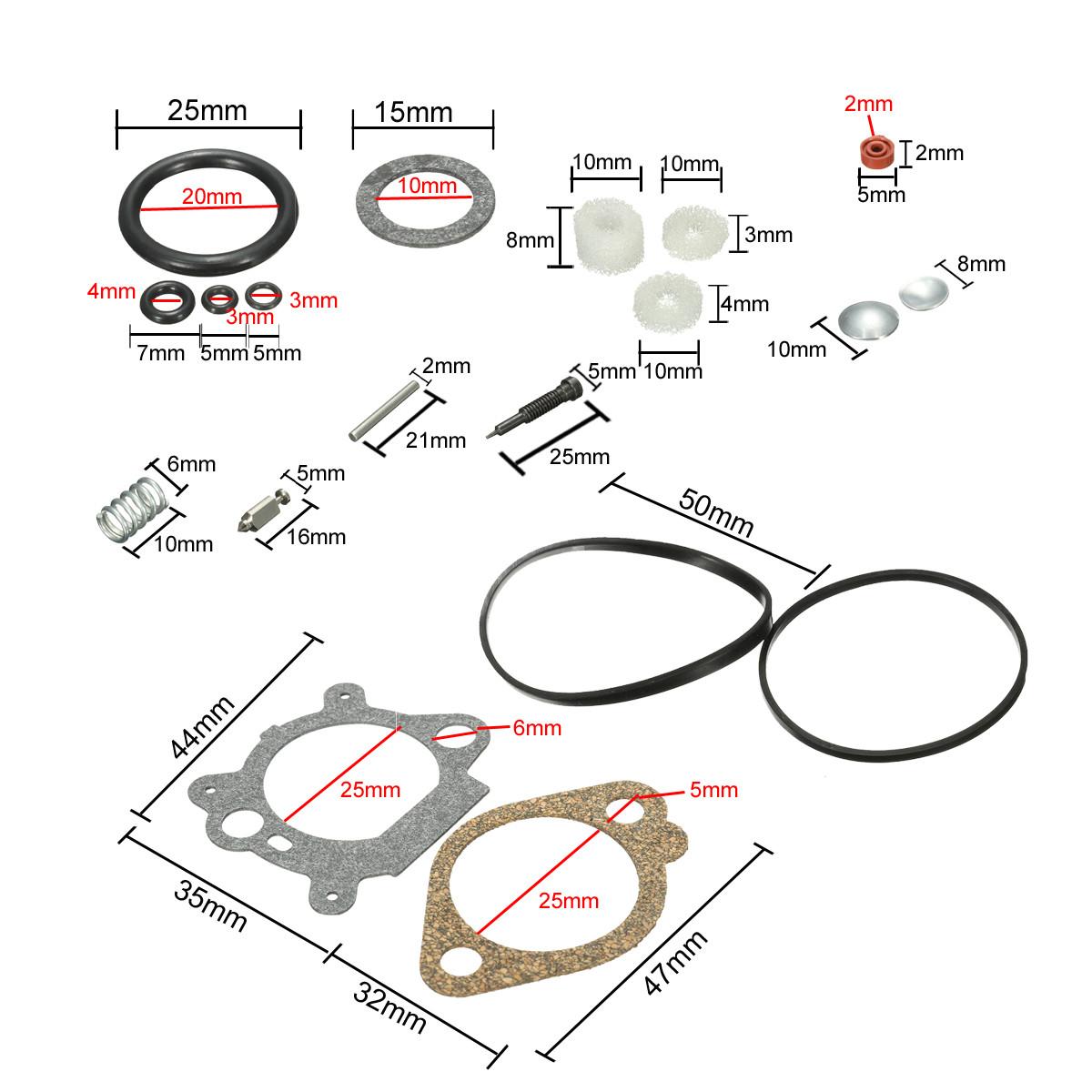 Carb Carburetor Rebuild Repair Kit For Briggs Amp Stratton