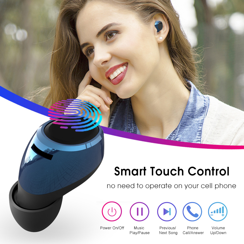 [Bluetooth 5.0] Bakeey T2 TWS Earphone LED Battery Display Smart Touch Binaural Call IPX5 Waterproof 9
