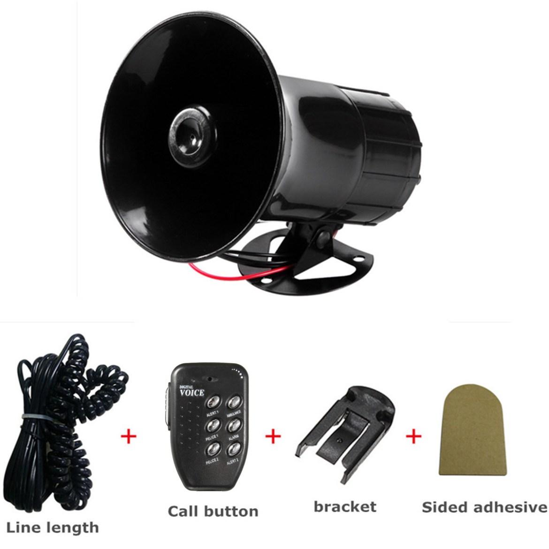 6 Sounds Car Motorcycle Van Truck Electronic Bell Horn Alarm Loudspeaker Siren