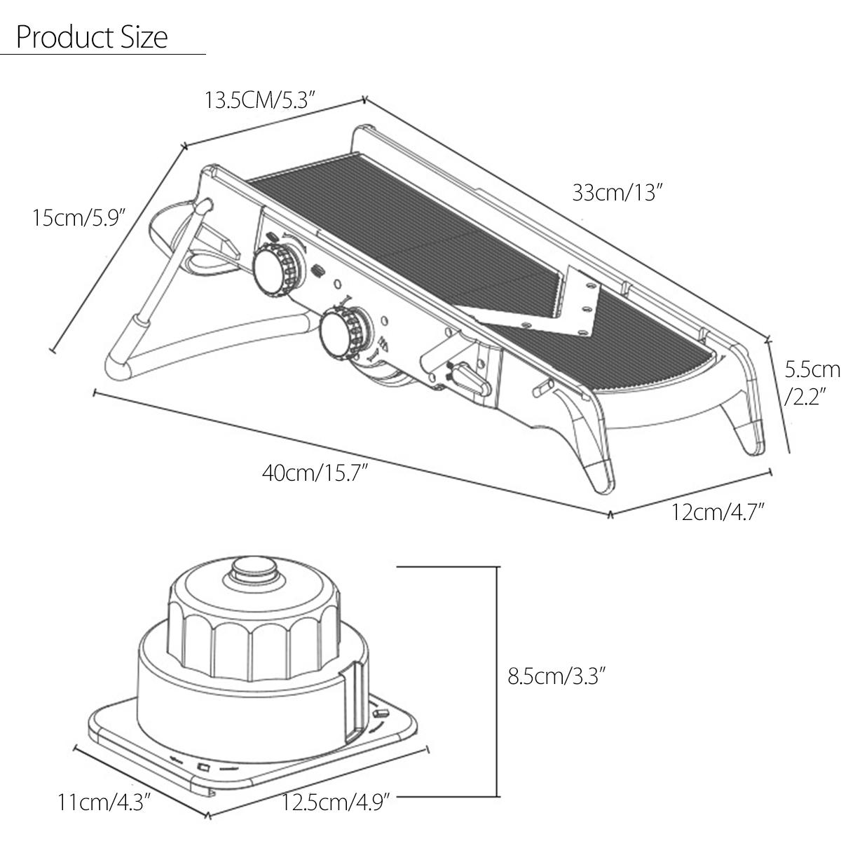 godmorn adjustable vegetable cutter slicer multi-function