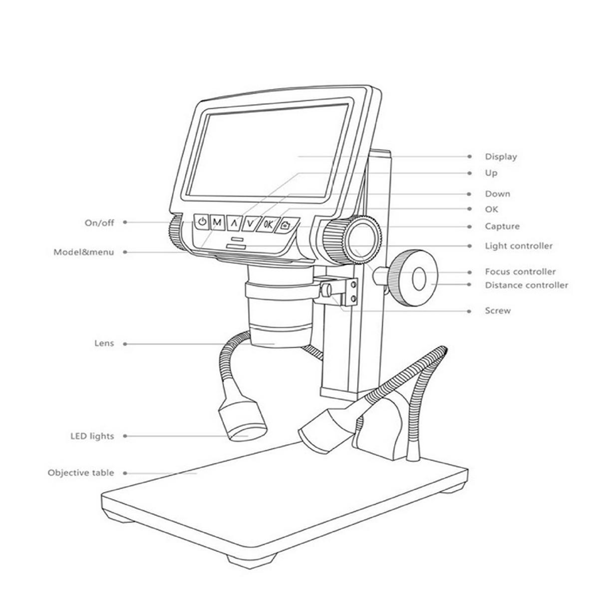 Andonstar Adsm301 260x P Industrial Microscope Digital