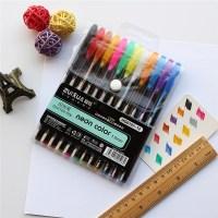 12 piezas de gel de color conjunto de bolgrafos para