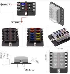 imars cs 579b3 10 way blade fuse box holder with led warning light for [ 1500 x 1500 Pixel ]
