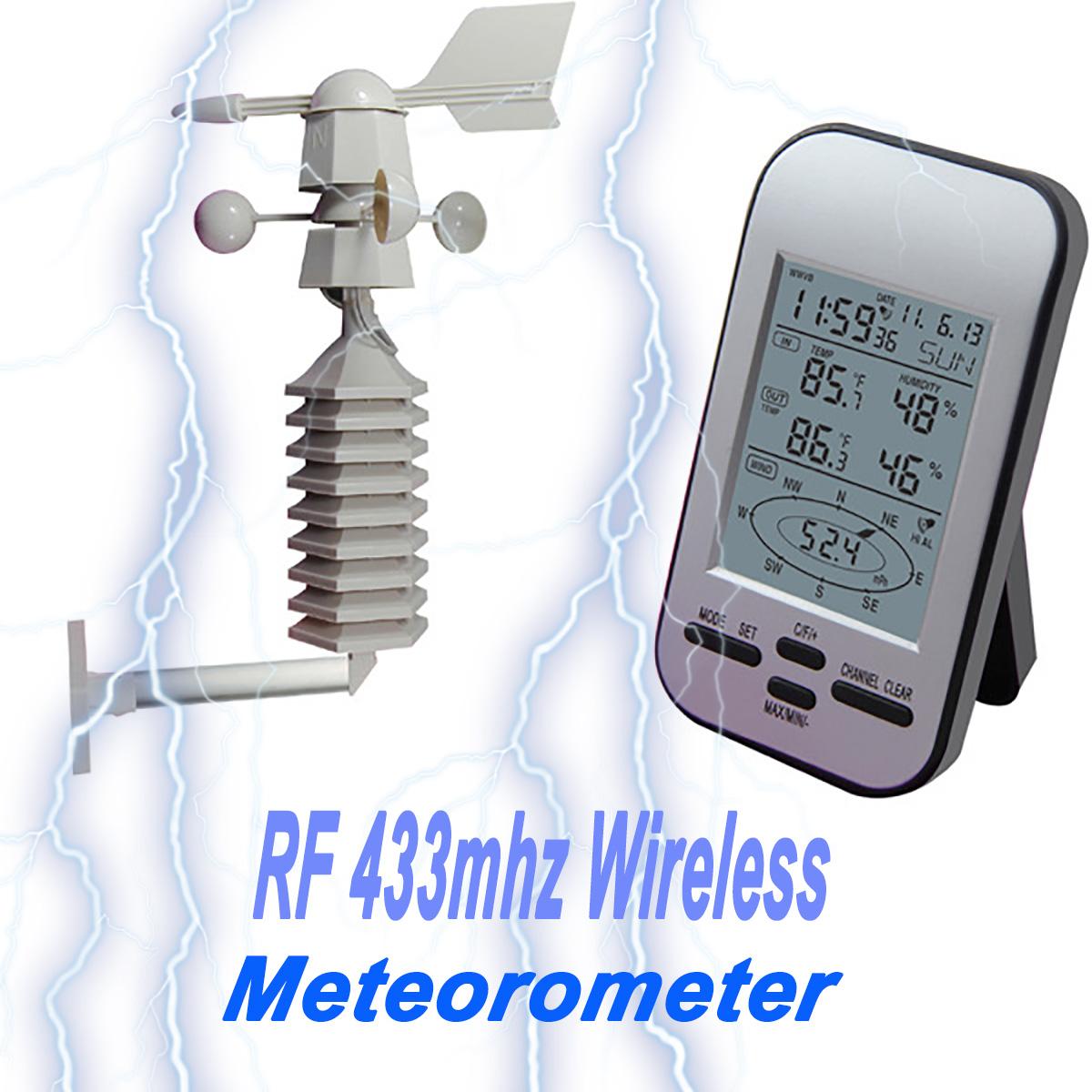 Rf 433mhz Wireless Weather Station Clock Wind Speed