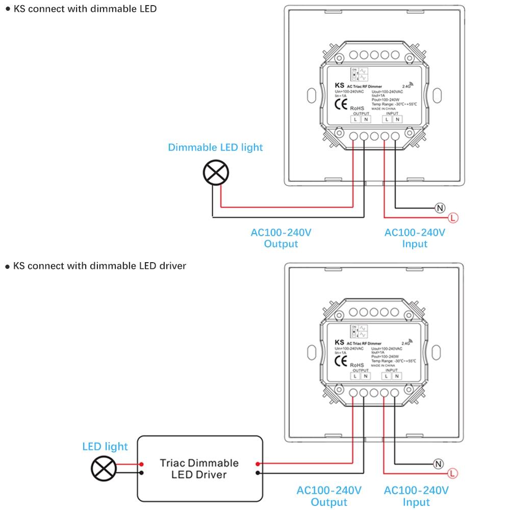 lustreon ac100-240v 1ch wall mount rotary panel led triac