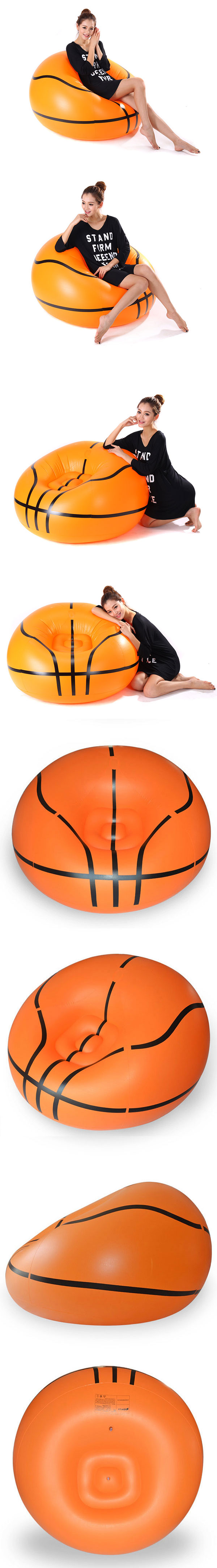 Basketball Bean Bag Chair Football Basketball Leisure Inflatable Sofa Portable Bean Bag Chair Outdoor Living Room Furniture