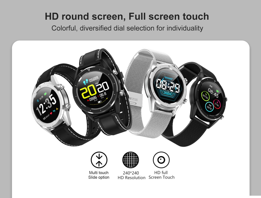 DT NO.1 DT28 1.54 Big Display Smart Watch ECG Monitor HR Blood Pressure Mobile Payment Watch 35