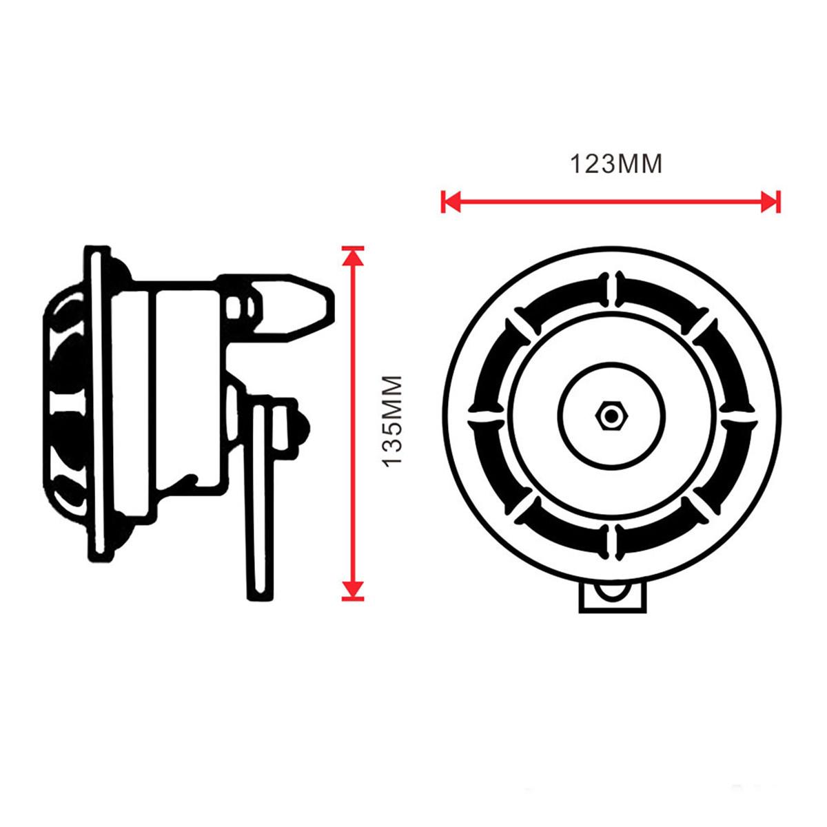 pair loud compact electric blast super tone hella horn
