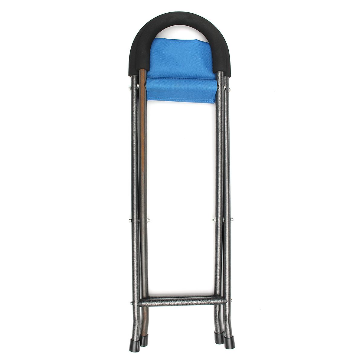 walking stick seat stool chair folding measurements ipree multi function pyramid