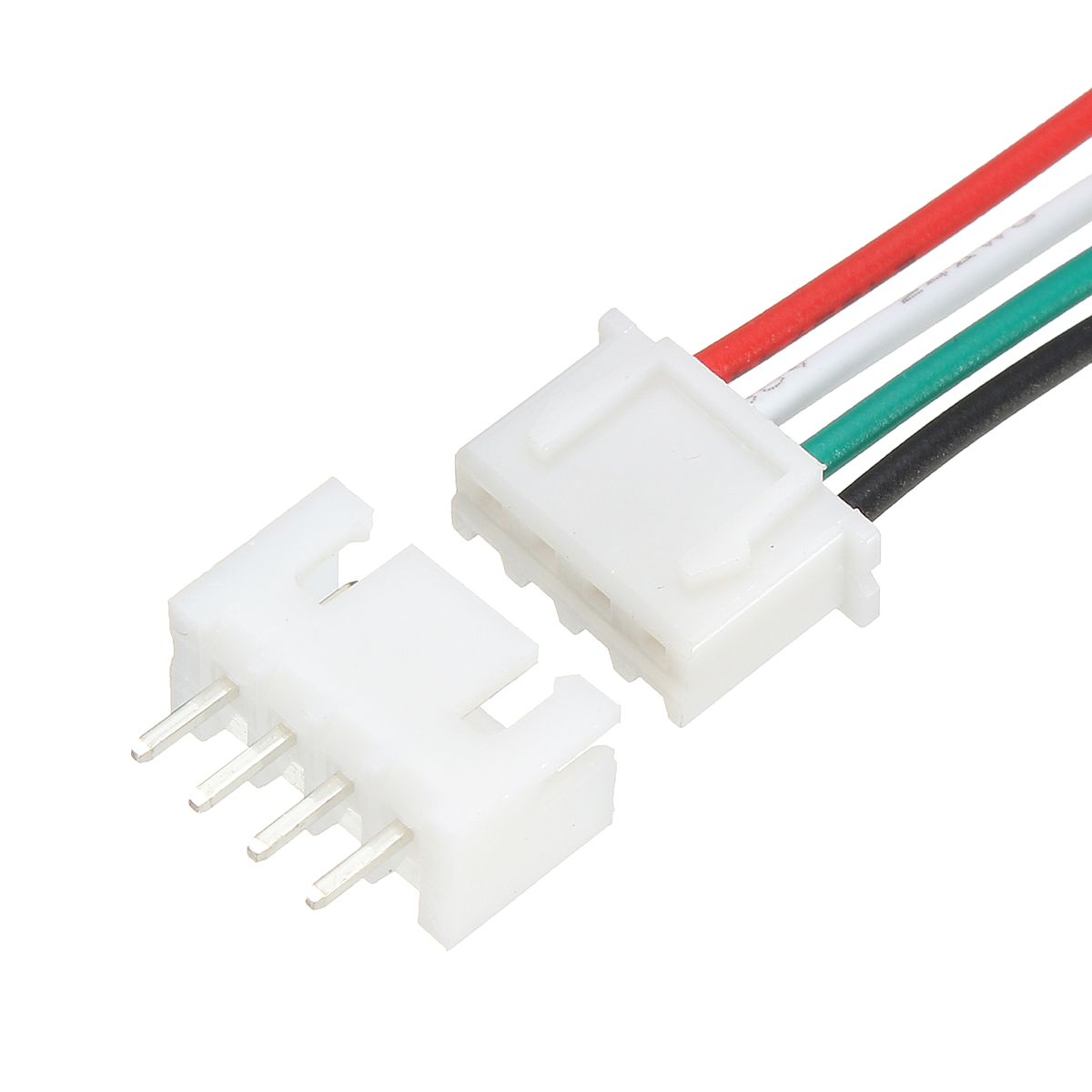 20pcs Xh Pitch 2 54mm Single Head 4pin Socket With 24awg