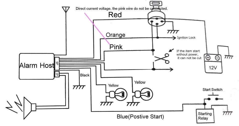 medium resolution of pke motorcycle alarm system