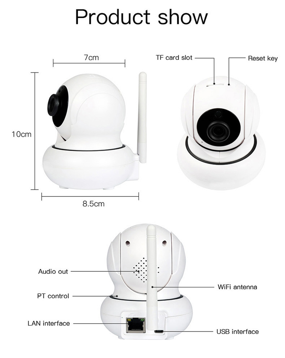 wanscam k21 1080p wifi ip camera 3x zoom face detection