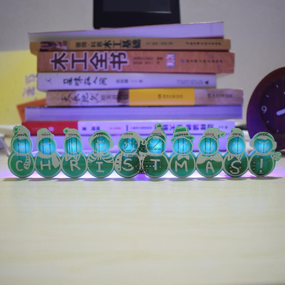 3pcs Geekcreit® DIY Full Color Christmas Snowman Music Box Kit 33