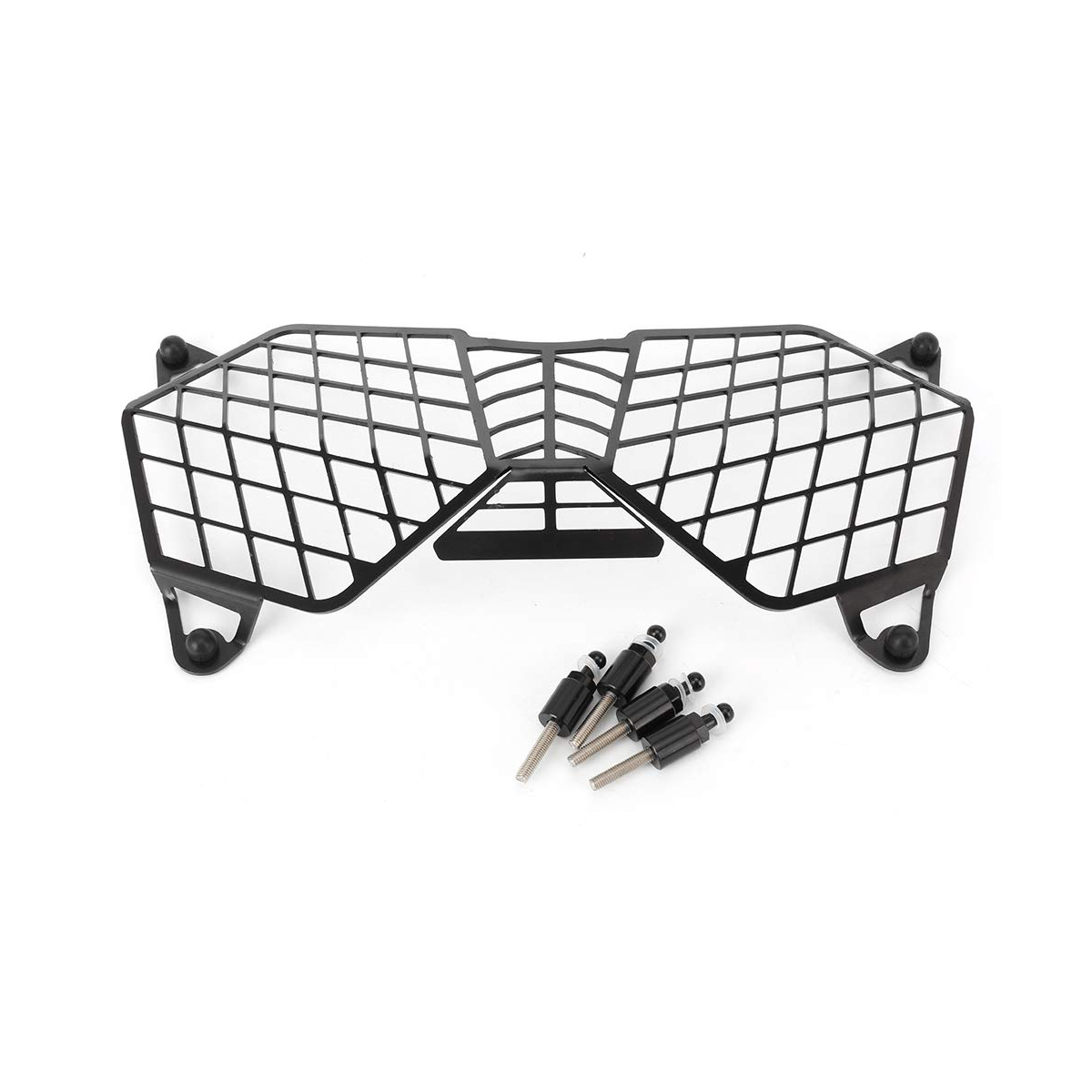 New Black Motorcycle Headlight Grille Light Cover