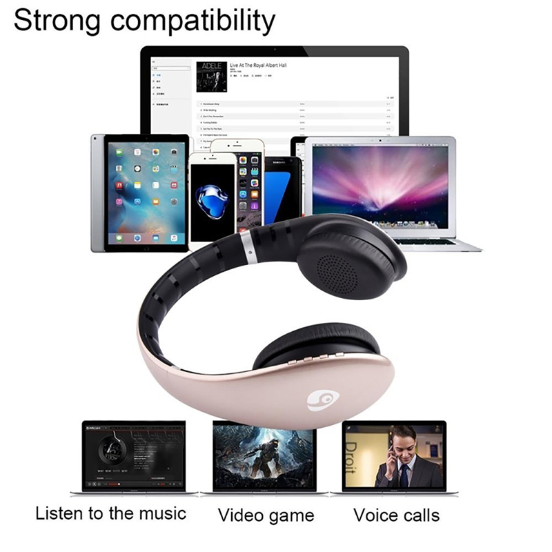 Ovleng S66 On-ear Sport Noise Reduction HiFi Stereo Heavy Bass Bluetooth Headphone With Mic 20