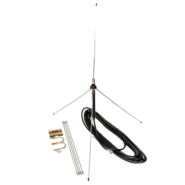 15M Cable Powerful 1/4 Wavelength GP antenna for 0.5-30