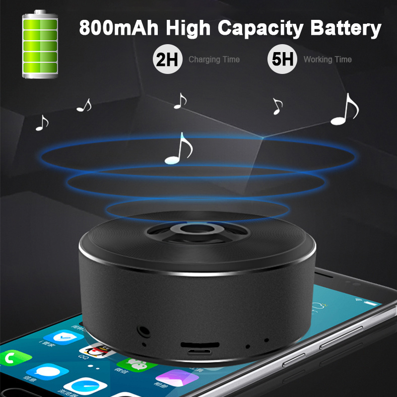 Bakeey A5 Wireless Bluetooth Speaker Portable FM Radio TF Card Aux-in Stereo Bass Speaker with Mic 30