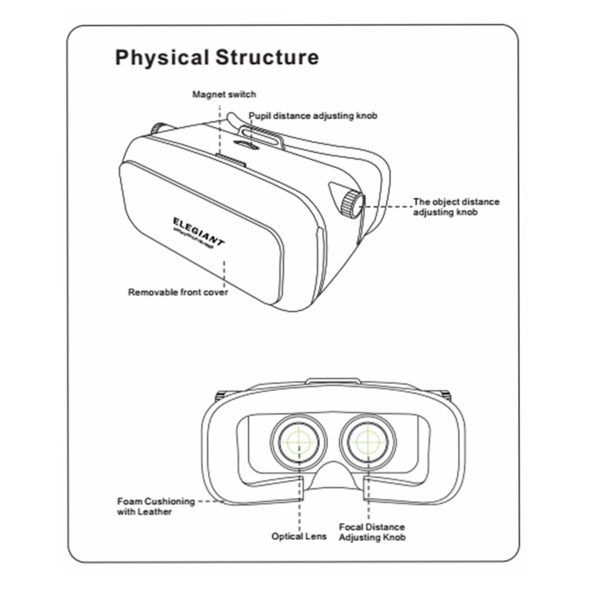 3d-02 óculos de vídeo 3d vr headset de realidade virtual