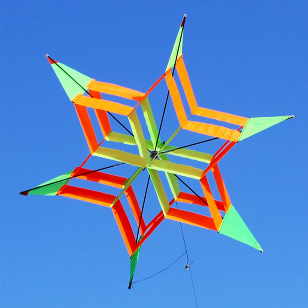 3D Colorful Flower Kite Single Line Outdoor sports Toy Light Wind Flying Kids 19