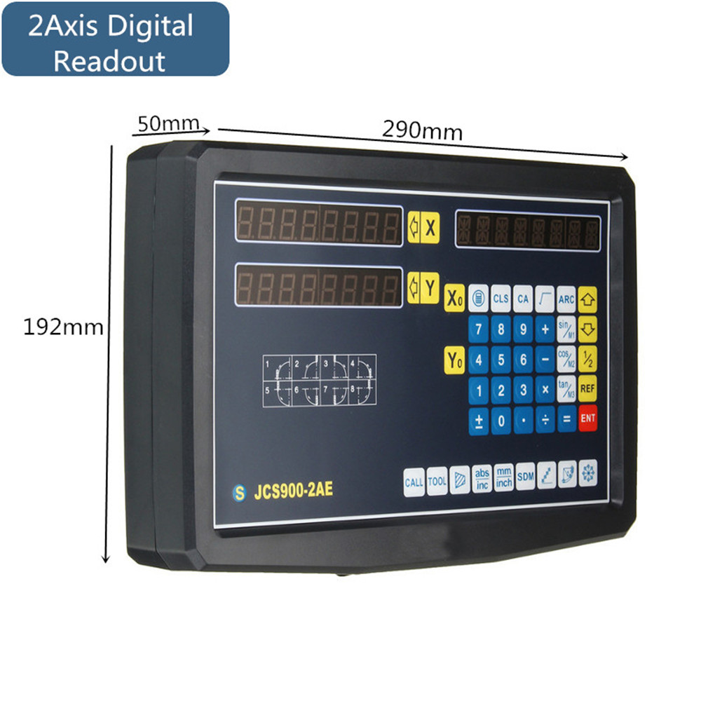 2/3 Axis Grating CNC Milling Digital Readout Display / 50-1000mm Electronic Linear Scale Lathe Tool 61