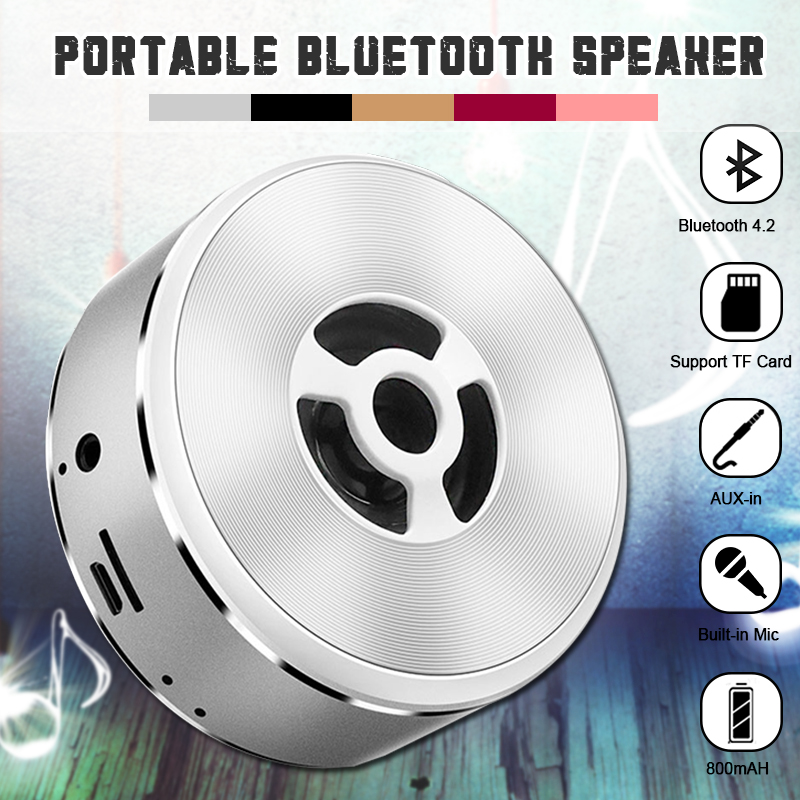 Bakeey A5 Wireless Bluetooth Speaker Portable FM Radio TF Card Aux-in Stereo Bass Speaker with Mic 28