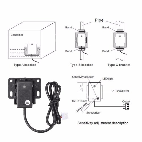 small resolution of 5v 12 24v non contact tank liquid water level detect sensor switch container