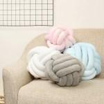 10 12 Soft Knot Pillow Sofa Cushion Round Ball Plush Pillow Home Car Decorations