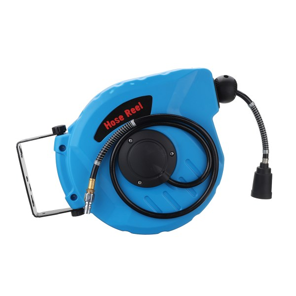 1 4 12m Retractable Auto Rewind Air 260psi Hose Reel 180 Rotation Wall Mount Tools Kit