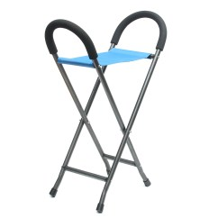 Walking Stick Seat Stool Chair Industrial Dining Table And Chairs Ipree Multi Function Folding Pyramid