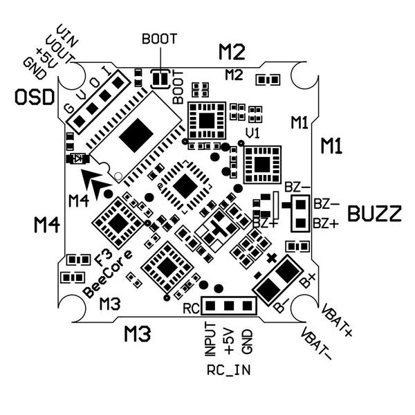 beecore omnibus f3 v1 flight controller built-in osd