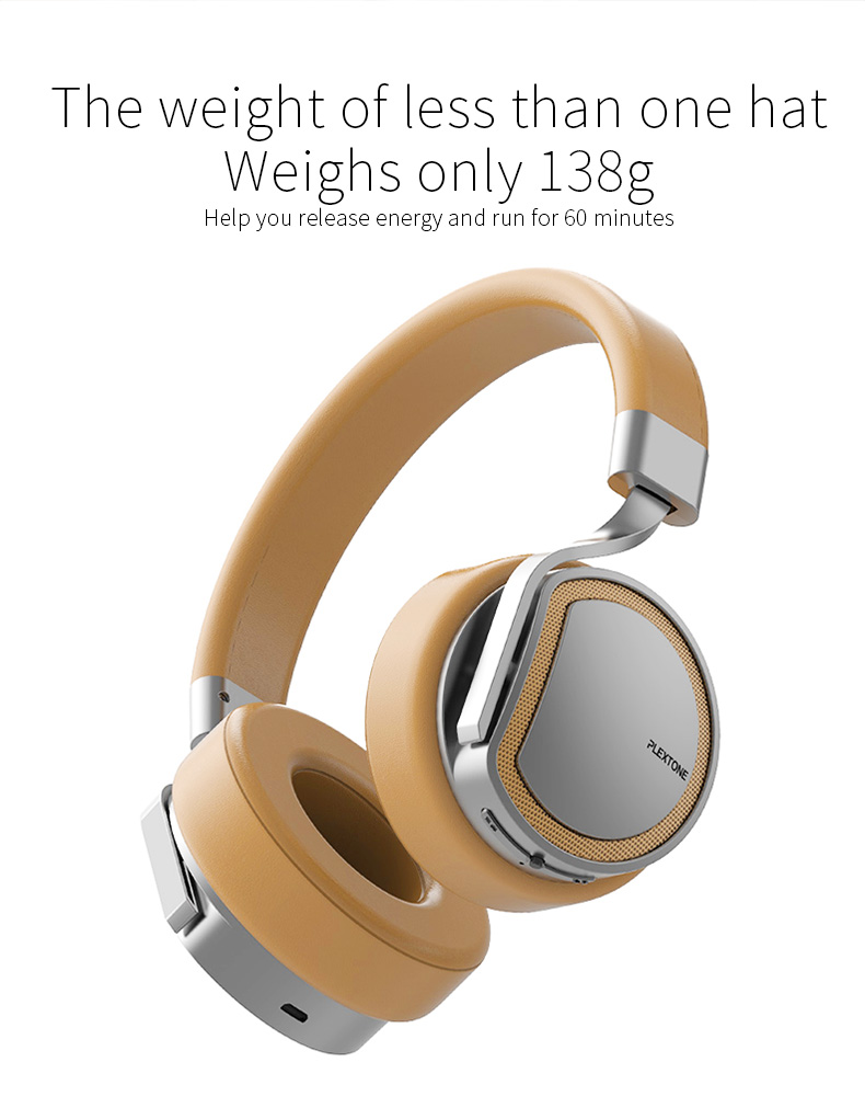 Plextone BT270 Wireless Bluetooth Headphone 800mAh 8G RAM MP3 Heavy Bass Headset for iPhone Samsung 16