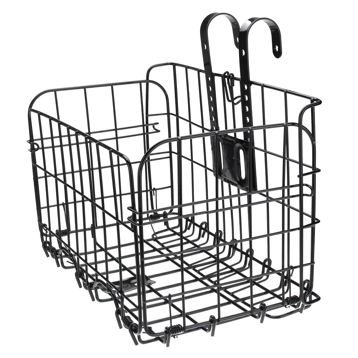 BIKIGHT Bicycle Front Basket Mesh Lift Off Carrier BLACK